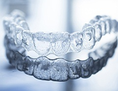 Clear Invisalign tray