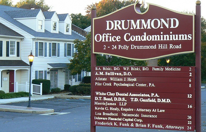 Drummon Office Condominiums sign