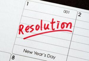calendar resolution written in red