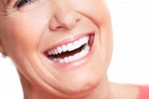 senior woman's beautiful smile