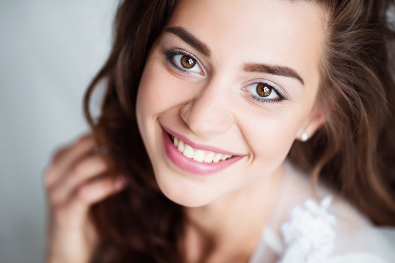 Woman with a beautiful smile.